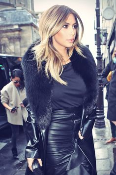Kim Kardashian was spotted arriving at the Tom Ford store in Paris, France, January 20th, 2014. The 'Kardashian Kollection' designer stuns in an all-black…