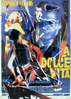 Artist: Mimmo Rotella Title: The Dance of Anita and Marcello Year: 2004 Medium: Serigraph with collage, signed in pencil l.r. Edition: P.A. Paper Size: 38 x 28 inches / 96 x 71cm Price: $3500