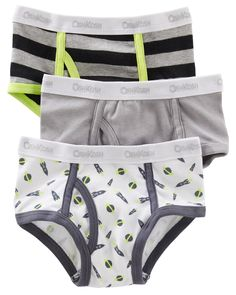 Kid Boy 3-Pack Cotton Briefs | OshKosh.com