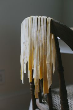 Mum and Dad would put aside a day to make fresh pasta. I would get home from school to find pasta draped all over the kitchen. Food Photography Styling, Food Styling, Smoke Photography, Photography Ideas, Pasta Casera, Fresh Pasta, Pasta Noodles, Homemade Pasta, Slow Living
