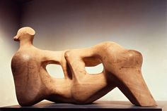 Elm wood sculptures by Henry Moore