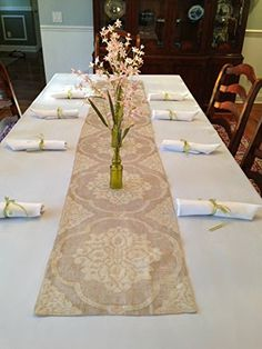 Tablecloth, runner and decor Spring table set 120 x 70 (Foret ...