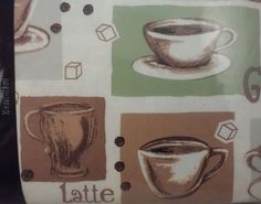 Tablecloth Cafe Latte Coffee Vinyl 70 In Round , 177.8 Cm Mainstays New