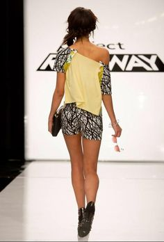 these shorts | Project Runway Season 13 Rate the Runway Mitchell Perry Episode 1 Look