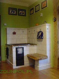 kuchnia kaflowa z ławką Furniture, Rocket Stoves, House, Kitchen Cabinets, Cabinet, Home Decor, Kitchen, Country Kitchen, Stove