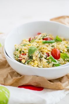 Summer Orzo Salad | ohmyveggies.com #salad #orzo #pasta #summer #veggies