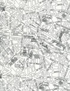 Paris map fabric