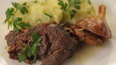 Konfitovaná jehněčí kýta Lamb, Steak, Beef, Food, Meat, Essen, Steaks, Meals, Yemek