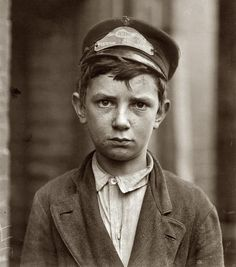 14-year-old Richard Pierce, Western Union messenger, works from 7 a.m. to 6 p.m, Delaware, 1910