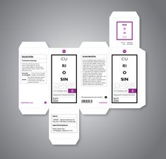ESTHER - medicine ref - packaging layout shape laid flat on poster