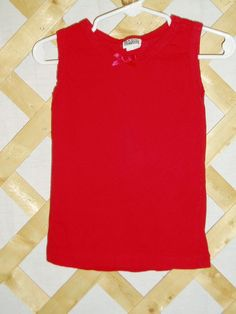 Red Tank Top with Bow - Girls Size 3T
