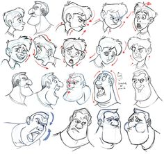 Pin by eslam kamal on drawing faces in 2019 Cartoon Drawings Of People, Cartoon Girl Drawing, Cartoon Sketches, Cartoon Faces, Cartoon Styles, Drawing Sketches, Cartoon Characters, Character Design Animation, Character Design References