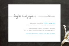 """""""The Happy Couple"""" - Modern, Simple Wedding Invitations in Tangerine by R studio."""