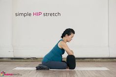 prenatal yoga hip stretch