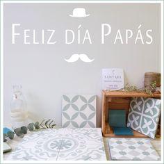 Feliz día Papás Baldosas hidráulicas artesanales de Yanyare Design baldosahidraulica, baldosashidraulicas, cementtiles, encaustictiles, carreauxdeciment, deco, interiors, tilenvy, renovation, design, interiordesign, zementfliesen, shoponline, vintage, elegance, luxurytiles, nosinmisbaldosas, yanyare_design, cuki, diseño, decoración, decoration style, tiles, baldosas, día del padre