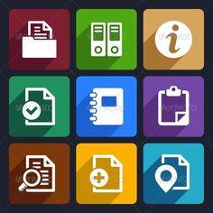 Documents and Folders Flat Icons Set 20 - Web Icons