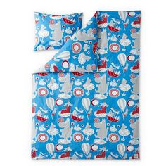 Moomin Dream duvet cover set blue/red 150 x 210 cm by Finlayson