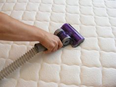 Mix baking soda with TBS of fabric softener and spread on mattress every one or two months. Leave on an hour and vacuum off. Kills dust mites and freshens the mattress. (Other Pinner:  THIS WAS AMAZING!! I add essential oils for more disinfecting power an