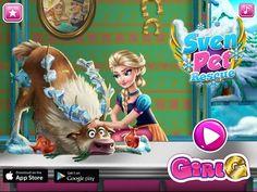 Frozen Doctor Games - Frozen Goofy Sven Pet Rescue