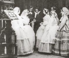 Victorian wedding ceremony