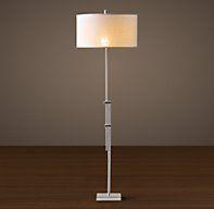 Parallel Floor Lamp Polished Nickel | Floor Lighting | Restoration Hardware