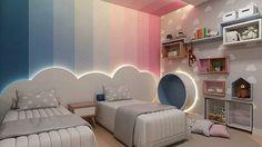 Kids room ideas – Home Decor Designs Kids Bedroom Designs, Room Design Bedroom, Kids Room Design, Home Room Design, Bedroom Decor, Boy And Girl Shared Room, Boy Girl Room, Boy Or Girl, Unisex Kids Room