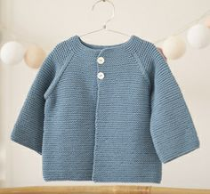 Image of CHAQUETA MOMO PUNTO BOBO Knitting For Kids, Baby Knitting, Crochet Baby, Knit Crochet, Baby Pullover, Baby Cardigan, Baby Barn, Baby Kind, Baby Sweaters