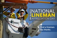 No one likes being in the dark. It's National Lineman Appreciation Day—so be sure to find a lineman and thank them for keeping the lights on!