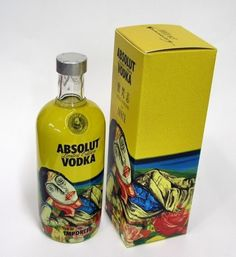 Absolut Vodka bottle and box PD