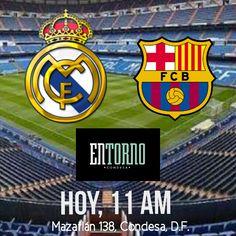 Los invitamos a ver el clásico español en #EntornoCondesa hoy a las 11 am. ¿A quién le van: al Madrid o al Barça?