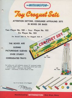 Withington Toy Croquet Set