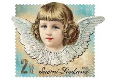 Postin verkkokauppa 2 lk:n postimerkit Kiiltokuvaenkeli - 2.luokan tarrapostimerkki