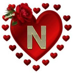 """♥ N ♥ Awe! thank you so much for the lovely """"N"""", you're so sweet dear Cynthia J. Alphabet Wallpaper, Name Wallpaper, Iphone Wallpaper, Cute Letters, Picture Letters, Alphabet Letters, Doodle Art Letters, Letter K, Photoshop Images"""