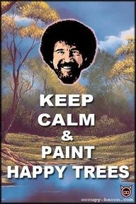 My daddy loves Bob Ross; therefore, I love Bob Ross:) I Smile, Make Me Smile, Bob Ross Art, Happy Little Trees, Bob Ross Paintings, Canvas Paintings, The Joy Of Painting, Nerd, Photo Vintage