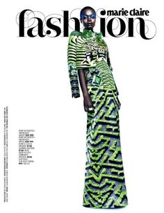 nice Marie Claire Africa do Sul   Editorial de Moda Abril 2013   Aluad Deng Anei