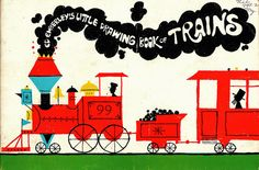 Color, negative space and text in steam. Ed Emberly's Little Drawing Book of Trains.