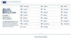 plataforma online para resolver disputas relacionadas com o comércio electrónico