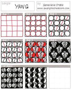 New Tangle: Yang #zentangle #pattern #art
