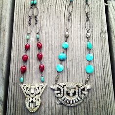 Relics by Tami... Vintage Paste & Stone necklace
