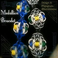 Medallion Bracelet.  LUVINLOOMS ORIGINAL DESIGN.