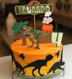 50 ideas de pasteles para Fiesta infantil de Dinosaurios Dinasour Birthday Cake, Dinosaur Birthday Party, 1st Birthday Parties, 4th Birthday, Diy Baby Shower Decorations, Birthday Party Decorations, Festa Jurassic Park, Dinosaur Cookies, Dinosaur Art
