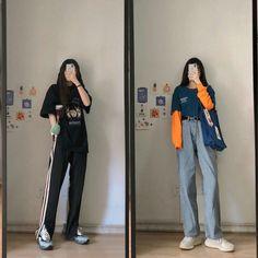 Korean Girl Fashion, Korean Street Fashion, Ulzzang Fashion, Korea Fashion, Asian Fashion, Korean Outfit Street Styles, Korean Outfits, Retro Outfits, Stylish Outfits