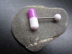 1 Tablettenpiercing Piercing Zunge Tablette Nr.8 Piercingschmuck Neu