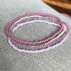 Stack Bracelets, Stretch Bracelets, Beaded Bracelets, Bracelet Set, Raspberry, Etsy, Bangle Set, Stacking Bracelets, Pearl Bracelets