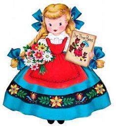 Goldilocks vintage card