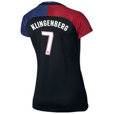 2016 Away Meghan Klingenberg Jersey USA Women's Soccer #7 - Black