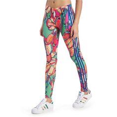 1a4ff46ab54d18 adidas Originals Rita Ora Black Leggings ($39) ❤ liked on Polyvore  featuring pants, leggings, black, cotton trousers, legging pants, jersey  legging…