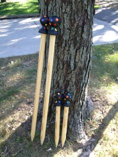 Baby GIANTS- Giant Knitting Needles US 120. $77.00, via Etsy.