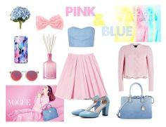"""""""PINK & BLUE"""" by joana-santos-duarte ❤ liked on Polyvore"""