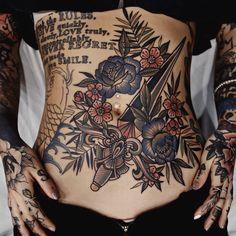 Tattoos for women Stomach Tattoos Women, Belly Tattoos, Old Tattoos, Tattoos Skull, Trendy Tattoos, Body Art Tattoos, Tribal Tattoos, Tattoos For Women, Tattoos Pics